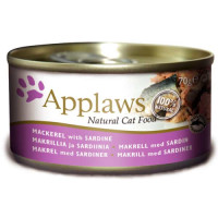 Applaws Mackerel with Sardine Tin Adult Cat Food 70g x 24