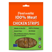 Feelwells 100% Meat Dog Treats 100g - Chicken Strips