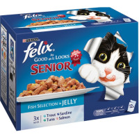 Felix As Good As It Looks Fish Selection Senior Cat Food