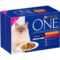 Purina ONE Chicken & Beef Mini Fillets In Gravy Senior 7+ Cat Food 85g x 8