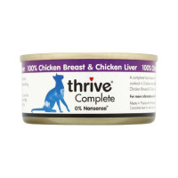 Thrive Complete 100% Chicken & Liver Cat Food 75g x 12