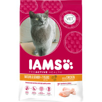 IAMS Chicken Senior & Mature 7+ Cat Food 10kg x 2
