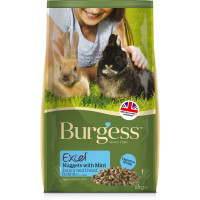 Burgess Excel Nuggets with Mint Junior/Dwarf Rabbit Food 10kg