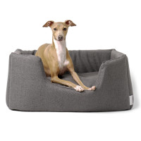 Charley Chau Weave Deeply Dishy Luxury Dog Bed Slate Medium