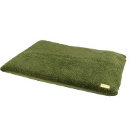 Earthbound Removable Waterproof Sherpa Dog Cage Green Mat Medium