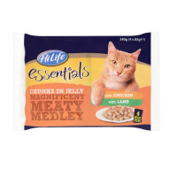 HiLife essentials Magnificent Meaty Medley in Jelly Adult Cat Food 85g x 4