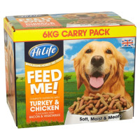 HiLife FEED ME! Complete Nutrition with Turkey & Chicken flavoured with Bacon & Veg 6kg