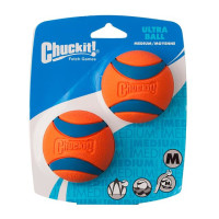 Chuckit Ultra Ball 2 Pack Dog Toy 6.5cm