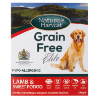 Natures Harvest Grain Free Lamb & Sweet Potato Adult Dog Food 395g x 10