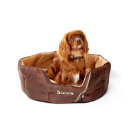 Scruffs Ranger Donut Snuggle Dog Bed Brown 61x46x23cm