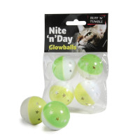 Sharples Pet Nite n Day Glow Balls for Cats 4 Pack