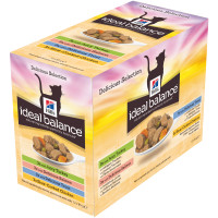 Hills Ideal Balance Multipack Adult Cat Pouches 85g x 12