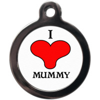 PS Pet Tags I Love Mummy Collar Dog ID Tag