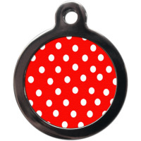 PS Pet Tags Polka Dot Dog ID Tag