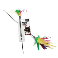 Sharples Pet Feath r Stick Dangling Cat Toy