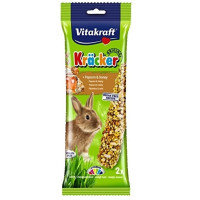 Vitakraft Kracker Popcorn & Honey Rabbit Sticks 2 Pack