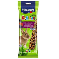 Vitakraft Kracker Wild Berry & Elderberry Rabbit Sticks 2 Pack