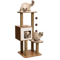 Vesper V High Base Walnut Cat Furniture