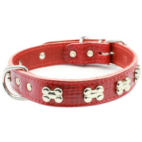 Earthbound Red Bone Dog Collar
