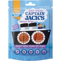 Good Boy Captain Jacks Salmon Strips Dog Treats 90g
