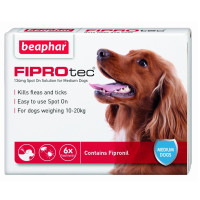 Beaphar FIPROtec Spot On for Dogs Medium Dog 6 Pipettes