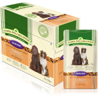 James Wellbeloved Turkey & Rice Senior Dog Pouches 150g x 10