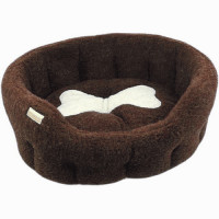 Earthbound Classic Bone Brown Dog Bed