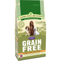 James Wellbeloved Grain Free Turkey & Vegetables Senior Dog Food 1.5kg
