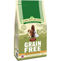James Wellbeloved Grain Free Turkey & Vegetables Adult Dog Food 10kg x 2