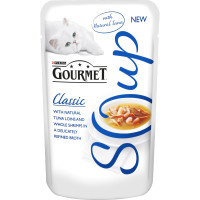 Gourmet Classic Soup Tuna & Shrimp Adult Cat Food 40g x 32