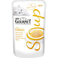 Gourmet Classic Soup Chicken Adult Cat Food 40g x 32