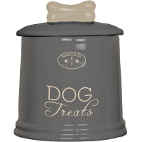Banbury & Co Ceramic Dog Treat Storage Jar Grey