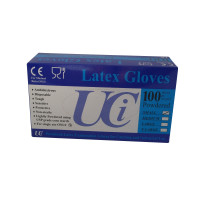 Trilanco Examination Latex Gloves Medium - 100 Pack