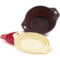 Rosewood Options Silicone Collapsible Travel Bowl Cream
