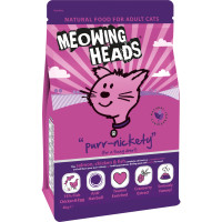 Meowing Heads Purr Nickety Salmon & Chicken Adult Cat Food 4kg x 2