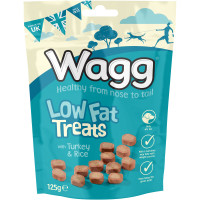 Wagg Low Fat Turkey & Rice Dog Treats 125g