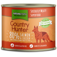 Natures Menu Country Hunter Salmon & Chicken Adult Dog Food Cans