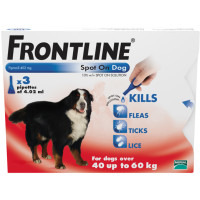 Frontline Flea Spot On Dog Extra Large Dog 40-60kg x 3