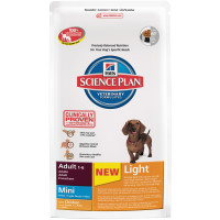 Hills Science Plan Light Mini with Chicken Adult Dog Food 2.5kg x 3