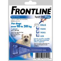 Frontline Flea Spot On Dog Medium Dog 10-20kg x 1