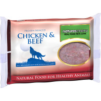 Natures Menu Minced Chicken & Beef Raw Frozen Dog Food 400g x 12