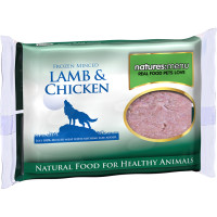 Natures Menu Minced Lamb & Chicken Raw Frozen Dog Food 400g x 12