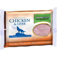 Natures Menu Minced Chicken & Liver Raw Frozen Dog Food 400g x 12