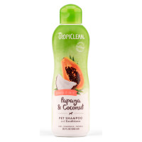 Tropiclean Shampoo 2in1 Papaya Plus  20 oz