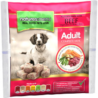 Natures Menu Complete Beef Nuggets Raw Frozen Dog Food 1kg