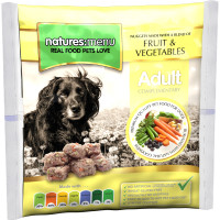 Natures Menu Fruit & Vegetable Nuggets Raw Frozen Dog Food 1kg