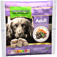 Natures Menu Complete Chicken & Tripe Nuggets Raw Frozen Dog Food 1kg