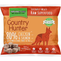 Natures Menu Country Hunter Complete Chicken & Salmon Nuggets Raw Frozen Dog Food 1kg