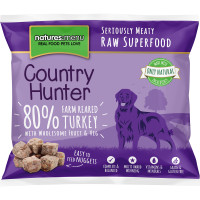 Natures Menu Country Hunter Complete Turkey Nuggets Raw Frozen Dog Food 1kg