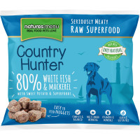 Natures Menu Country Hunter Complete White Fish & Mackerel Nuggets Raw Frozen Dog Food 1kg